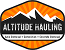 altitude hauling junk removal logo